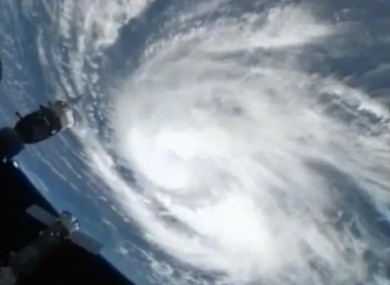Hurricane Katia as seen from the International Space Station