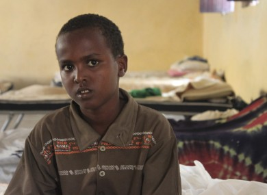 File photo of 9-year-old Liban Mohammed who defected from al-Shabab's army of fighters earlier this year.