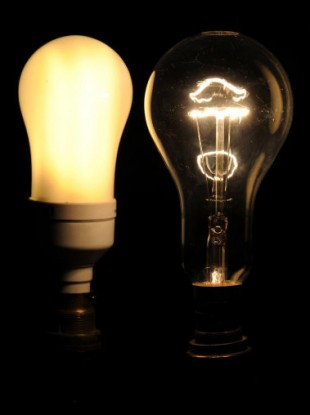 Lightbulbs, old and new