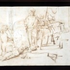 The recovered quill pen drawing, supposedly by Rembrandt. (AP Photo/Gus Ruelas, File)