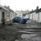 Debris silts up Lady's Lane in Kilmainham. Image: Eamonn Farrell/Photocall Ireland