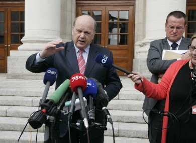 Michael Noonan speaks following the publication of the report today.
