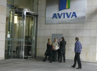 Aviva staff in Dublin last week