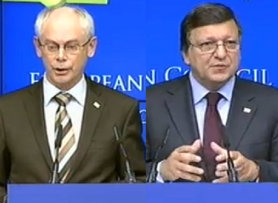 Herman van Rompuy and Jose Manuel Barroso have assured that a package of decisions to fight the European debt crisis will be contained.