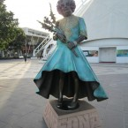 Dame Edna at the Docklands in Melbourne, Australia. She is joined at Waterfront City by fellow Ozzie Kylie Minogue.  Image: Sweet One on Flickr<span class=