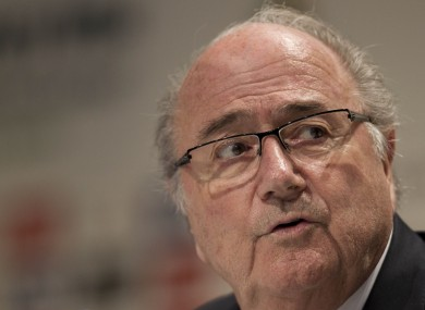 Blatter has faced numerous corruption allegations in recent months.