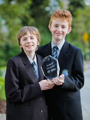 Eoghan Flynn and Ruairi O'Neill from Blackwater Community School in Lismore, Co Waterford