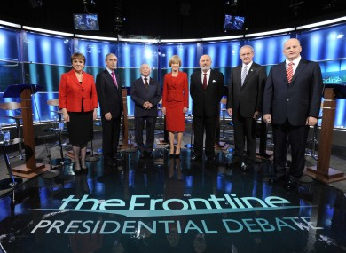 All seven candidates at the Frontline debate last night.