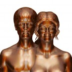 Pop sensation Justin Bieber and his girlfriend Selena Gomez have been immortalised - in the nude - by sculptor Daniel Edwards, who once crafted the controversial piece depicting Britney Spears giving birth.   Image: Daniel Edwards