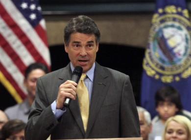 Republican presidential candidate, Texas Gov. Rick Perry