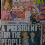 It's Sabina and Michael D for the front page of the Star, along with the president elect's vow to be a 'president for the people'.