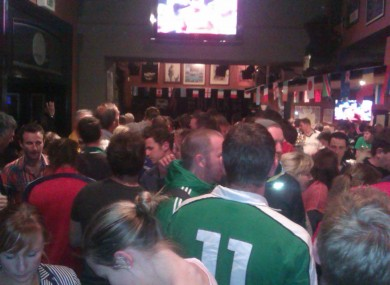 The scene in Molly Malone's Bar, Wellington this morning.