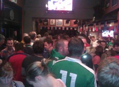 The scene in Molly Malone's Bar, W