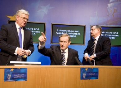 Eamon Gilmore, Enda Kenny and Brendan Howlin will announce the reforms today