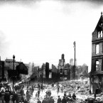 Cork city centre was ravaged by fire after the Black and Tans, the RIC and British soldiers went on a rampage to avenge the killing of an Auxiliary soldier by the IRA at Dillon's Cross on 11 December 1920. Image: Mercier Archives
