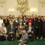 President Mary McAleese meets relatives of the Omagh victims at a special event at Aras an Uachtarain in Dublin in January 2010.