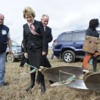 Traditionally, McAleese opens the National Ploughing Championships in Ireland each year.