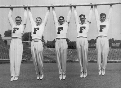 Five old-school American cheerleaders - for the day that's in it.