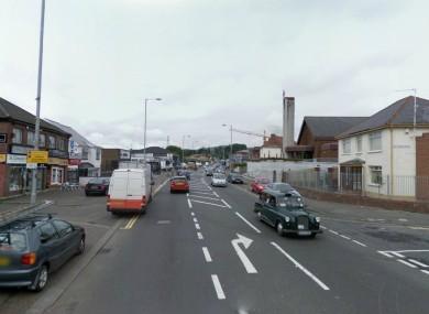 Part of the Anderstown Road area in West Belfast