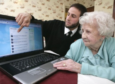 It's never too late - here 104-year-old Ivy Bean receives Internet training.