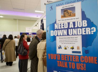A working abroad expo earlier this year.