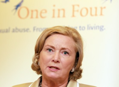 Minister for Children Frances Fitzgerald at One in Four's annual report launch recently.