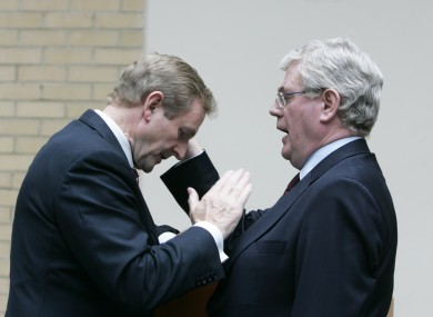 How will Enda Kenny and Eamon Gilmore handle 2012? No pressure, men.