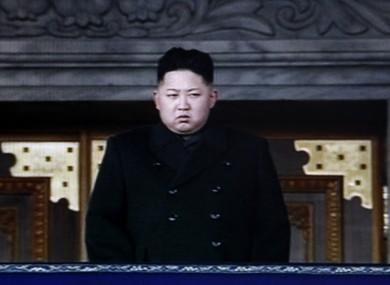 North Korea's next leader Kim Jong Un is seen during a memorial service for late North Korean leader Kim Jong Il