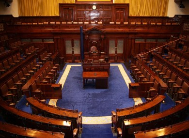 The Dáil chamber: ordinarily free from outside intruders.