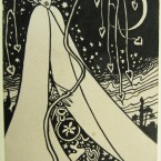 The actor, writer, artist and impressario drew and sent this card from Howth to theatregoer Joseph Holloway, writing: