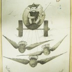 Again from Georgina Pim's Album of Christmas cards, birds - not reindeer - provided the pulling power at Christmas.