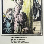 The image was by Lady Glenavy, RHA, and it was printed by Lily and Lollie Yeats. (Cuala Press Collection)