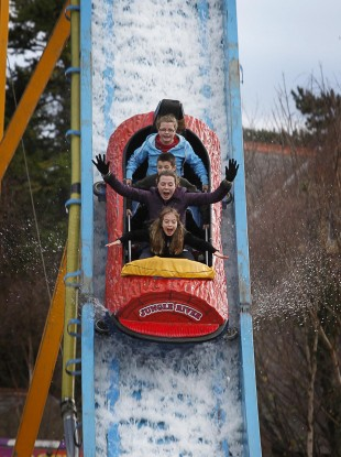 People enjoying the first day of Funderland at the RDS in Dublin today