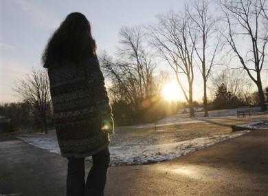 Lisa Nasseff photographed near St Paul, Minnesota on 1 December.
