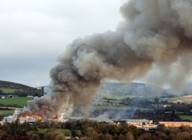 The fire as captured by a local freelance photographer