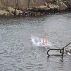 Making a splash at the Forty Foot. (Image: Sasko Lazarov/Photocall Ireland)