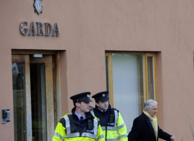 Sean Fitzpatrick leaving Bray Garda Station this afternoon