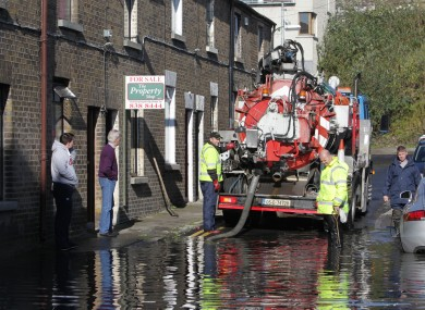 The morning after: the clean-up effort in Kilmainham after the October flooding.