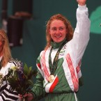 Michelle Smith won three gold swimming medals and a bronze at Atlanta - immediately after a US swimmer accused Smith of doping. Smith passed drug tests at the time but received a four-year ban for tampering with a urine sample in a random test in 1998.