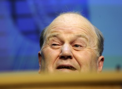 Michael Noonan on Budget Day: new figures have shown that Ireland's tax take was 2.5 per cent less than expected in 2011.