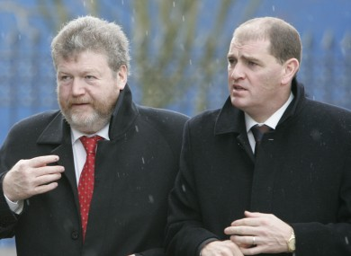 Chief whip Paul Kehoe (right), with James Reilly: Kehoe has published a list of 26 bills the government expects to bring forward in the coming term.