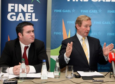 Damien English (L) with Enda Kenny in 2009