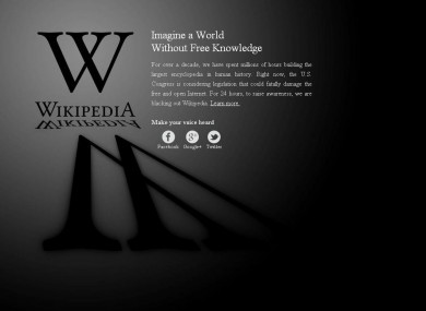 Wikipedia's blackout
