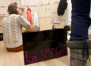 The sit-in at La Senza in Liffey Valley Shopping Centre Dublin