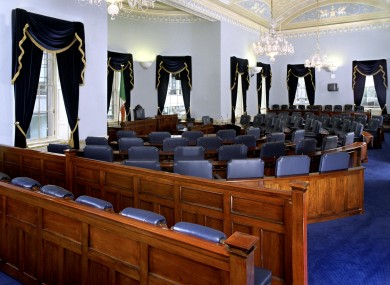 The Seanad chamber: 12 senators are receiving a little-known annual payment of over €23,000 a year for not being in political parties.