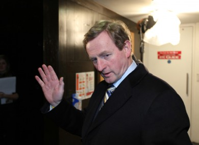 Enda Kenny, pictured in February 2011