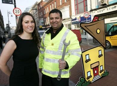 Arwen Foley, AA Roadwatch presenter and AA Patrol VJ Gangarh.