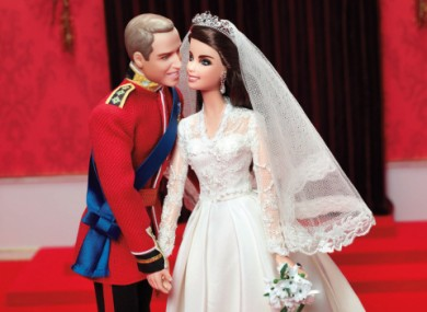 The Barbie versions of the Duke and Duchess of Cambridge.