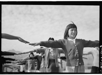 One of Ansel Adams' photographs from the Manzanar camp.