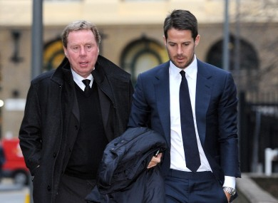 Harry Redknapp with son, Jamie.